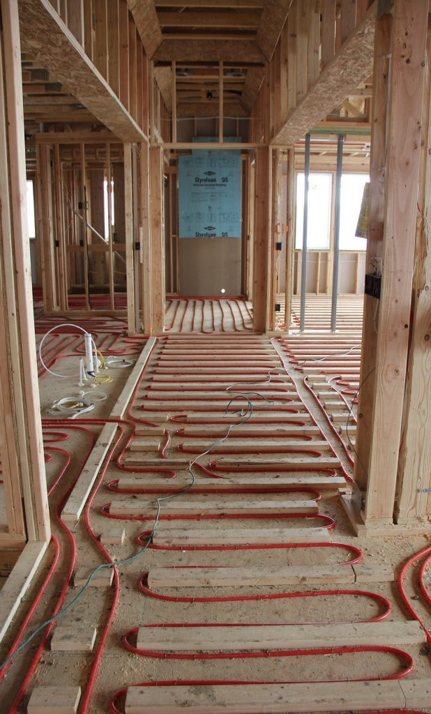 Radiant Heating Installed in Floor