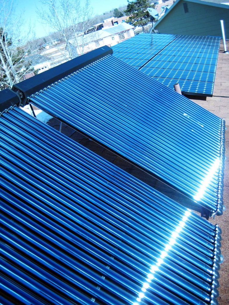 solar hot water roof mount